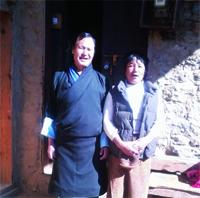 Sonam Tshering and wife Phub Zam